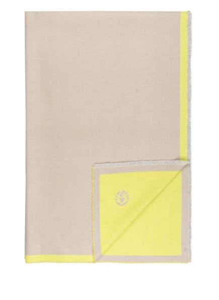 SPORTALM Plaid, Farbe: CAMEL/ NEONGELB (Bild 1)