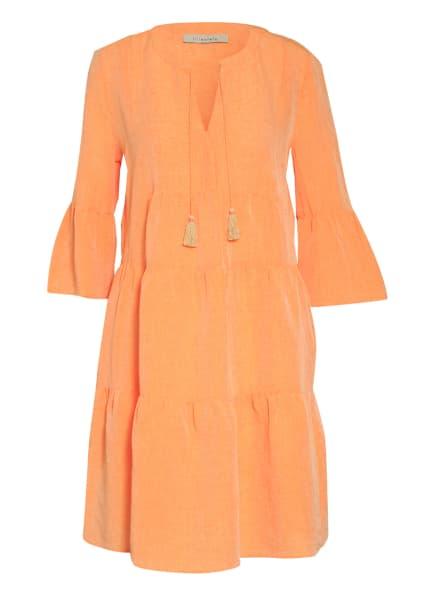 lilienfels Kleid mit Leinen und 3/4-Arm, Farbe: ORANGE (Bild 1)