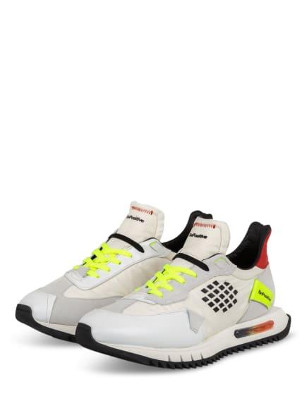 BePositive Sneaker SPACE RUN, Farbe: WEISS/ ROT/ NEONGELB (Bild 1)