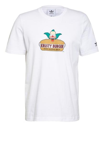 adidas Originals T-Shirt KRUSTY BURGER, Farbe: WEISS (Bild 1)