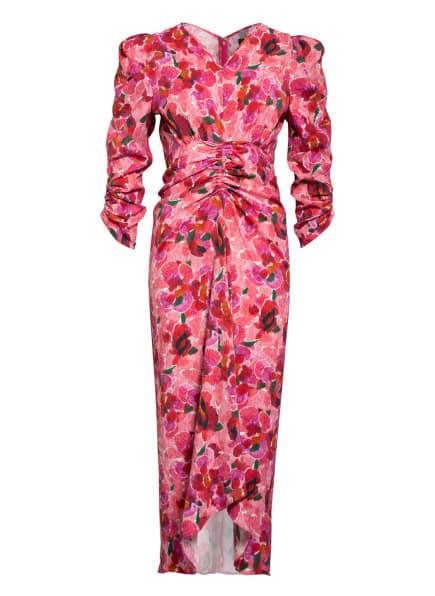 ISABEL MARANT Jacquard-Kleid ALBI , Farbe: ROSA/ DUNKELROT/ GRÜN (Bild 1)