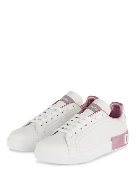 DOLCE&GABBANA Sneaker PORTOFINO, Farbe: WEISS/ HELLLILA (Bild 1)
