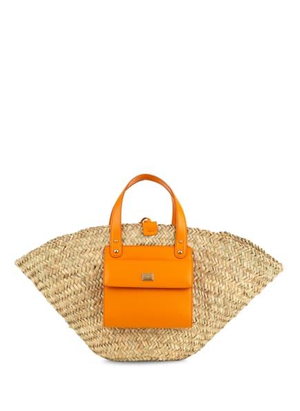 DOLCE&GABBANA Shopper, Farbe: BEIGE/ ORANGE (Bild 1)