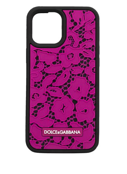 DOLCE&GABBANA Smartphone-Hülle, Farbe: NEONLILA/ SCHWARZ (Bild 1)