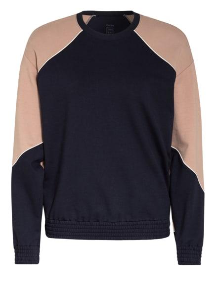 CALIDA Lounge-Sweatshirt 100% NATURE RELAX, Farbe: DUNKELBLAU/ ROSÉ (Bild 1)