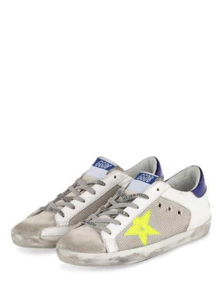 GOLDEN GOOSE Sneaker SUPER-STAR, Farbe: WEISS/ HELLGRAU/ SILBER (Bild 1)