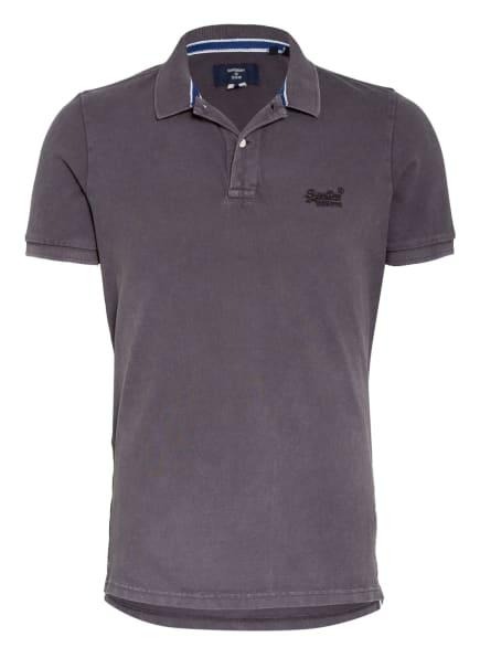 Superdry Piqué-Poloshirt, Farbe: DUNKELGRAU (Bild 1)