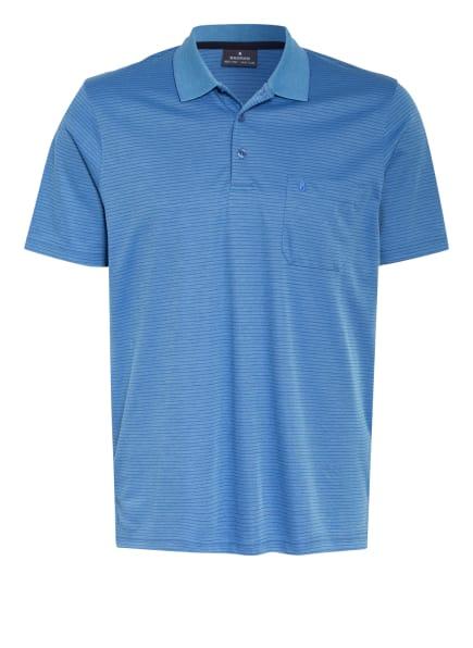 RAGMAN Jersey-Poloshirt, Farbe: BLAU/ DUNKELBLAU (Bild 1)