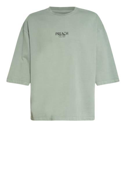 PREACH Oversized-Shirt, Farbe: OLIV/ DUNKELGRÜN/ LACHS (Bild 1)