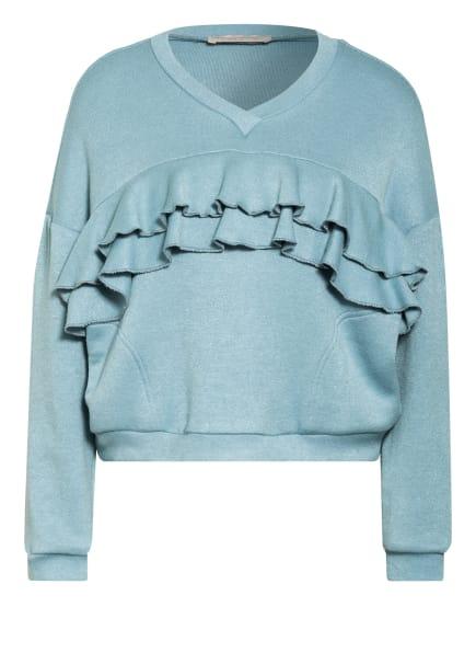 RINASCIMENTO Pullover mit Rüschenbesatz, Farbe: HELLBLAU (Bild 1)