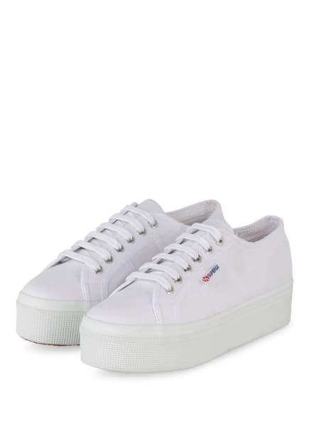SUPERGA Plateau-Sneaker, Farbe: WEISS (Bild 1)