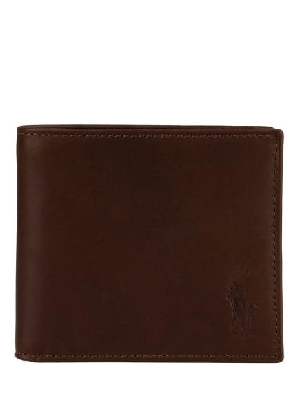 POLO RALPH LAUREN Geldbörse , Farbe: DUNKELBRAUN (Bild 1)