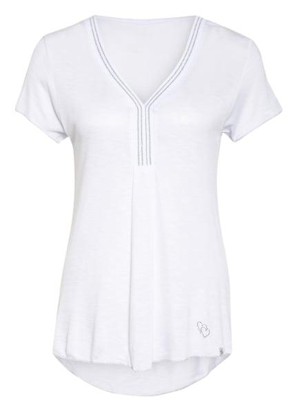 KEY LARGO T-Shirt VICKY mit Schmucksteinbesatz, Farbe: WEISS/ SILBER (Bild 1)