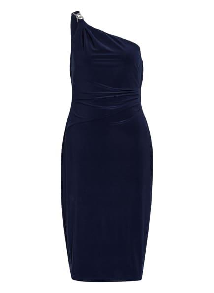 LAUREN RALPH LAUREN One-Shoulder-Kleid HOLLYNN mit Schmucksteinbesatz, Farbe: DUNKELBLAU (Bild 1)
