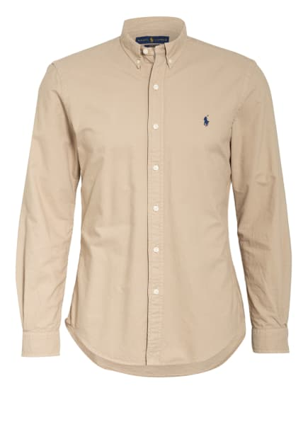 POLO RALPH LAUREN Oxford-Hemd Slim Fit, Farbe: BEIGE (Bild 1)