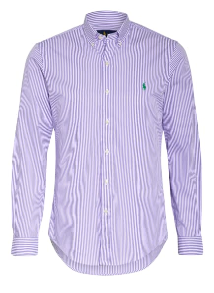 POLO RALPH LAUREN Hemd Slim Fit, Farbe: WEISS/ LILA (Bild 1)