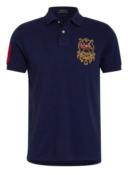 POLO RALPH LAUREN Piqué-Poloshirt Custom Slim Fit , Farbe: DUNKELBLAU (Bild 1)