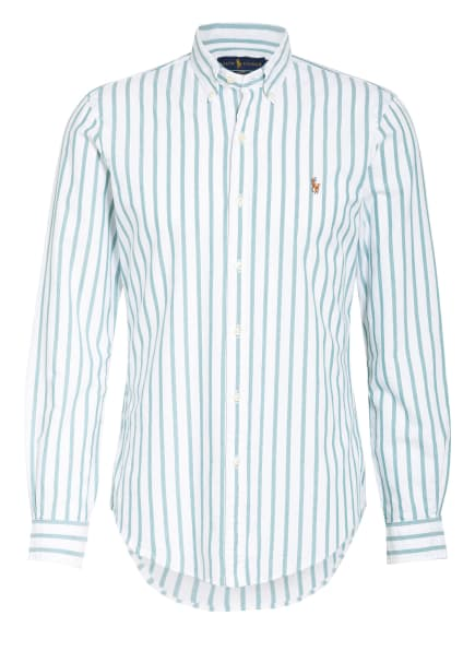 POLO RALPH LAUREN Hemd Slim Fit, Farbe: WEISS/ GRÜN (Bild 1)