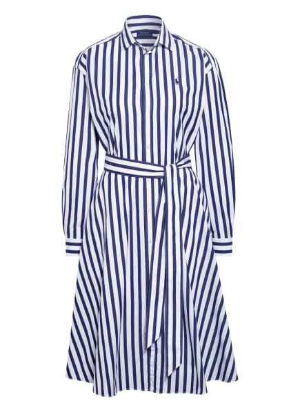 POLO RALPH LAUREN Hemdblusenkleid, Farbe: WEISS (Bild 1)