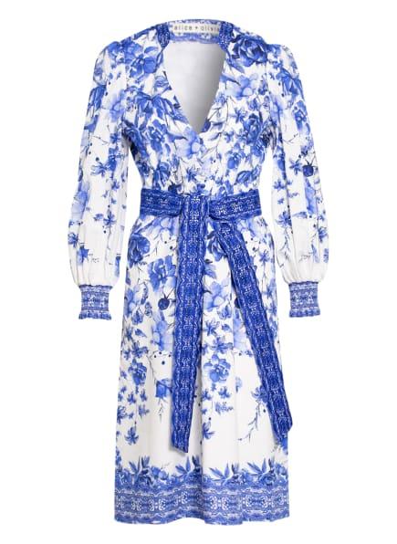 alice+olivia Kleid SHANLEY, Farbe: WEISS/ BLAU (Bild 1)