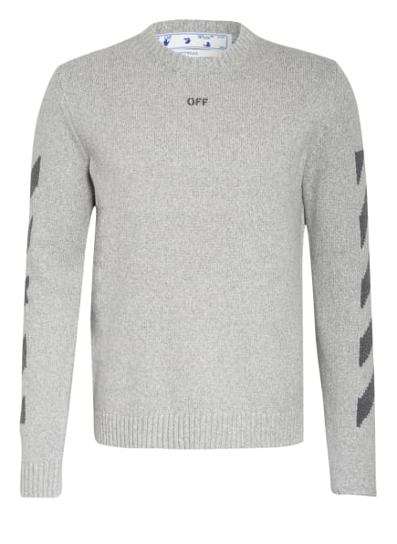 Off-White Pullover, Farbe: HELLGRAU/ DUNKELGRAU (Bild 1)