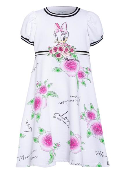 MONNALISA Jerseykleid, Farbe: WEISS/ PINK/ GRÜN (Bild 1)