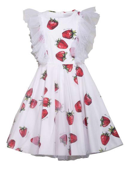 MONNALISA Kleid, Farbe: WEISS/ ROT/ GRÜN (Bild 1)