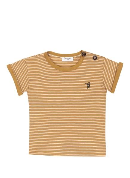 Sanetta PURE T-Shirt, Farbe: HELLBRAUN/ WEISS (Bild 1)