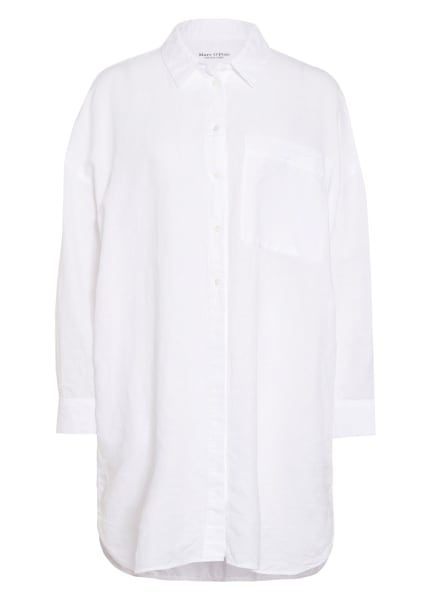 Marc O'Polo Hemdblusenkleid aus Leinen , Farbe: WEISS (Bild 1)