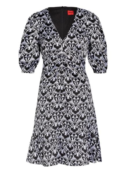 HUGO Kleid KIGURA mit 3/4-Arm, Farbe: SCHWARZ/ WEISS (Bild 1)