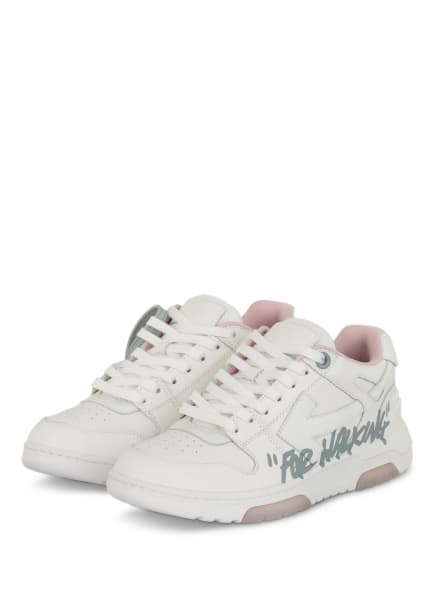 Off-White Sneaker OOO, Farbe: WEISS/ ROSA (Bild 1)