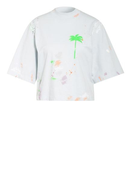 Palm Angels Cropped-Shirt, Farbe: HELLBLAU/ GRÜN/ NEONROT (Bild 1)