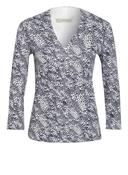 HOBBS Shirt AIMEE mit 3/4-Arm, Farbe: DUNKELBLAU/ WEISS (Bild 1)