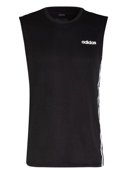 adidas Tanktop DESIGN 2 MOVE, Farbe: SCHWARZ/ WEISS (Bild 1)