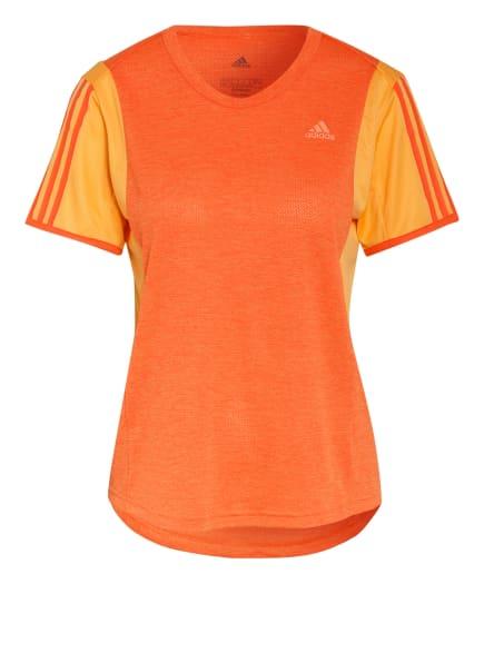 adidas Laufshirt OWN THE RUN, Farbe: ORANGE/ HELLORANGE (Bild 1)