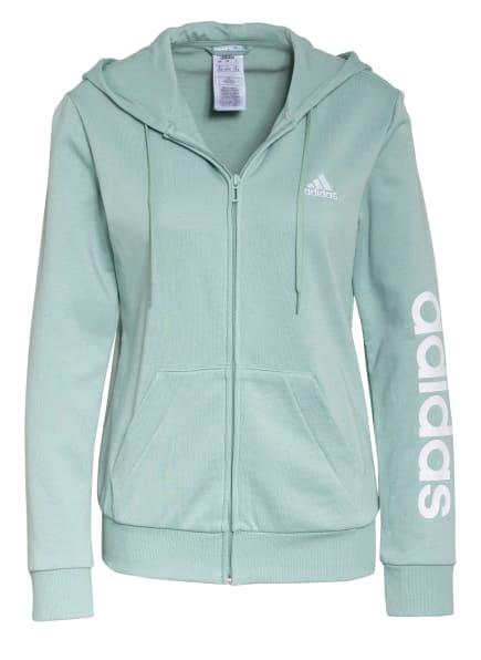 adidas Sweatjacke ESSENTIALS LINEAR, Farbe: MINT (Bild 1)