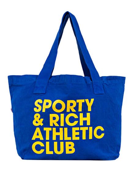 SPORTY & RICH Shopper, Farbe: Royal Blue/Yellow (Bild 1)