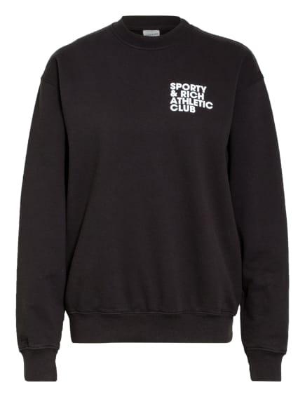 SPORTY & RICH Sweatshirt, Farbe: SCHWARZ/ WEISS (Bild 1)