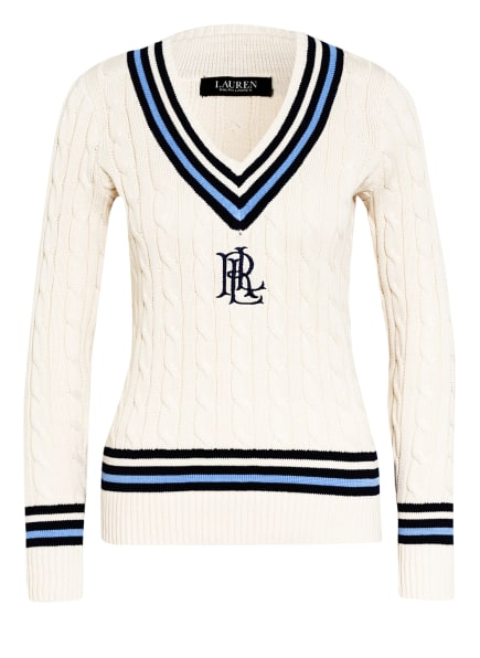 LAUREN RALPH LAUREN Pullover, Farbe: CREME/ HELLBLAU/ DUNKELBLAU (Bild 1)