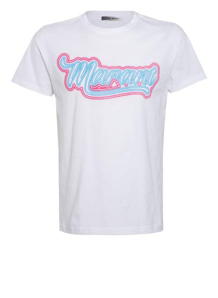 ISABEL MARANT T-Shirt ZAO, Farbe: WEISS/ HELLBLAU/ DUNKELROT (Bild 1)