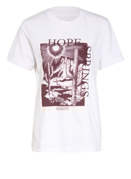 ALL SAINTS T-Shirt CACTI BOYFRIEND, Farbe: WEISS (Bild 1)