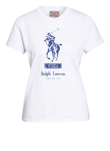 POLO RALPH LAUREN T-Shirt, Farbe: WEISS/ BLAU (Bild 1)