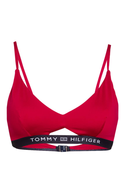 TOMMY HILFIGER Bralette-Bikini-Top , Farbe: DUNKELROT/ DUNKELBLAU (Bild 1)