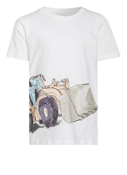 name it T-Shirt, Farbe: WEISS/ TÜRKIS/ HELLBRAUN (Bild 1)