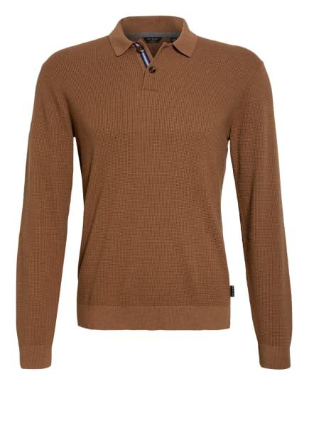 TED BAKER Strick-Poloshirt BATHA, Farbe: BRAUN (Bild 1)
