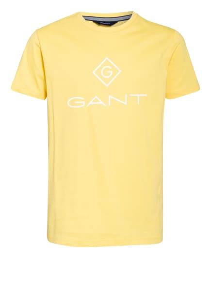 GANT T-Shirt, Farbe: DUNKELGELB/ GELB/ WEISS (Bild 1)