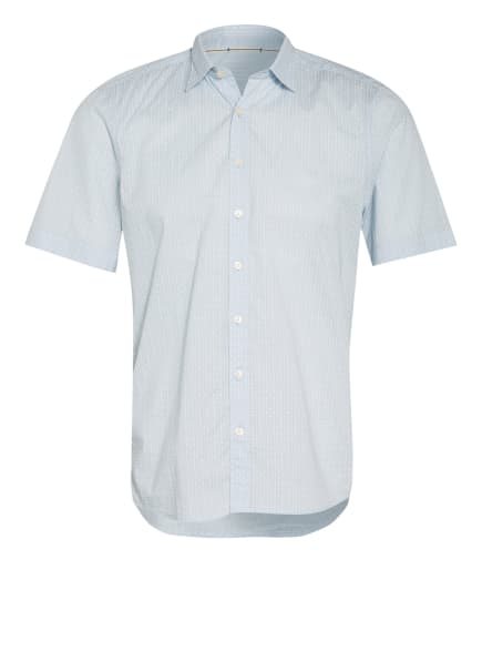 Marc O'Polo Kurzarm-Hemd Shaped Fit , Farbe: HELLBLAU/ WEISS (Bild 1)