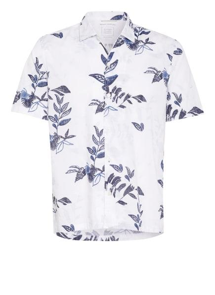 Marc O'Polo Kurzarm-Hemd Regular Fit, Farbe: WEISS/ BLAU (Bild 1)