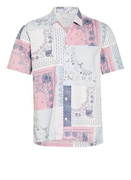 Marc O'Polo Kurzarm-Hemd Regular Fit, Farbe: HELLROSA/ HELLBLAU/ BLAU (Bild 1)