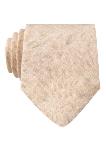 REISS Krawatte TOULOUSE aus Leinen, Farbe: CREME (Bild 1)